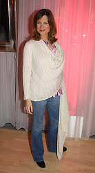 News presenter KATIE DERHAM at the annual Laurent Perrier Pink Party held at The Sanderson Hotel, Berners Street, London on 27th April 2005.<br /><br />NON EXCLUSIVE - WORLD RIGHTS