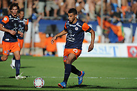 FOOTBALL - FRENCH CHAMPIONSHIP 2012/2013 - L1 - MONTPELLIER HSC v OLYMPIQUE MARSEILLE - 27/08/2012 - PHOTO SYLVAIN THOMAS / DPPI - YOUNES BELHANDA (MHSC)