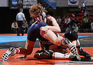 07 MARCH 2009: Cornell's Kyle Kehrli (top) tries to control Wilkes' Frank Heffernan in the 174-pound quarterfinal at the 2009 NCAA Division III Wrestling Championships at the US Cellular Center in Cedar Rapids, Iowa on Friday March 7, 2009. Kehrli won 8-6.
