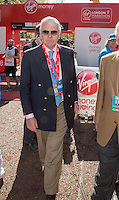 Former Prime Minister John Major at the end of the Virgin Money London Marathon 2014 on Sunday 13 April 2014<br /> Photo: Roger Allan/Virgin Money London Marathon<br /> media@london-marathon.co.uk