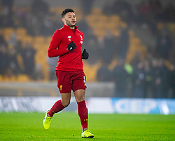 WOLVERHAMPTON, ENGLAND - Thursday, January 23, 2020: Liverpool's Alex Oxlade-Chamberlain during the pre-match warm-up before the FA Premier League match between Wolverhampton Wanderers FC and Liverpool FC at Molineux Stadium. (Pic by David Rawcliffe/Propaganda)
