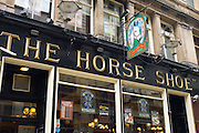 Horse Show public house - with traditional pub sign - in Drury Street off Buchanan Street in Glasgow, Scotland, UK