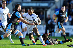 Semesa Rokoduguni of Bath Rugby goes on the attack - Photo mandatory by-line: Patrick Khachfe/JMP - Mobile: 07966 386802 18/10/2014 - SPORT - RUGBY UNION - Glasgow - Scotstoun Stadium - Glasgow Warriors v Bath Rugby - European Rugby Champions Cup