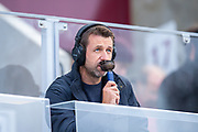 Former Hearts and Rangers player Neil McCann commentates on the match during the Ladbrokes Scottish Premiership match between Heart of Midlothian and Rangers FC at Tynecastle Park, Edinburgh, Scotland on 20 October 2019.