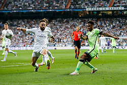 Raheem Sterling of Manchester City crosses - Mandatory byline: Rogan Thomson/JMP - 04/05/2016 - FOOTBALL - Santiago Bernabeu Stadium - Madrid, Spain - Real Madrid v Manchester City - UEFA Champions League Semi Finals: Second Leg.
