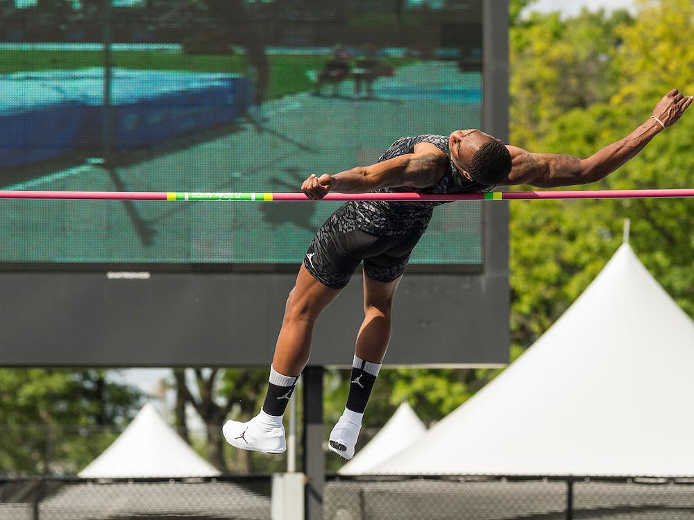Erik Kynard, USA, men's high jump, adidas Grand Prix Diamond League track and field meet