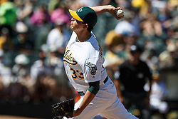 OAKLAND, CA - MAY 01: Fernando Rodriguez #33 of the Oakland Athletics pitches against the Houston Astros during the eighth inning at the Oakland Coliseum on May 1, 2016 in Oakland, California. The Houston Astros defeated the Oakland Athletics 2-1. (Photo by Jason O. Watson/Getty Images) *** Local Caption *** Fernando Rodriguez