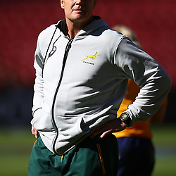 Rassie Erasmus (Head Coach) of South Africa during the South African - Springbok Captain's Run at Emirates Airline Park,<br /> Johannesburg .South Africa. 08,06,2018 Photo by (Steve Haag Sports)