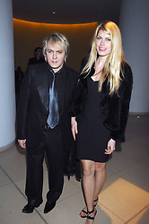 NICK RHODES and MEREDITH OSTROM at 'Not Another Burns Night' in association with CLIC Sargebt and Children's Hospice Association Scotland held at ST.Martins Lane Hotel, London on 3rd March 2008.<br />