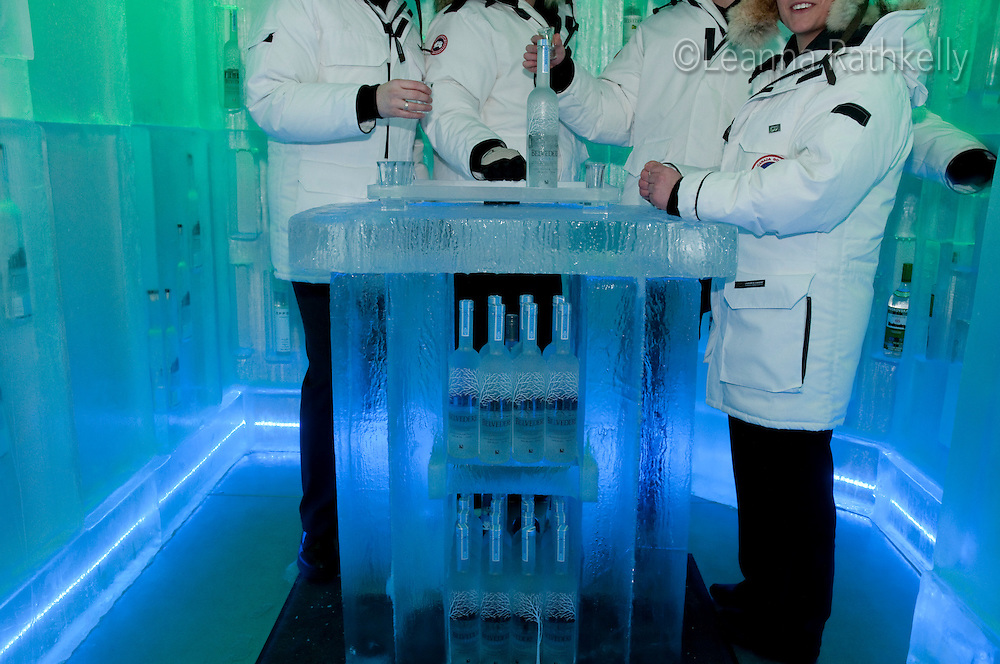 The Bearfoot Bistro offers vodka tastings in a -25-degree indoor ice room during the 2010 Olympic Winter Games in Whistler, BC Canada.