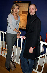 HELEN GREEN and IAN GARLANT Creative Director of the Hardy Amies fashion house at a private view sculptures, drawings and Maquettes by Aly Brown held at Lucy B Campbell Fine Art, 123 Kensington Church Street, London W8 on 22nd November 2005.<br />