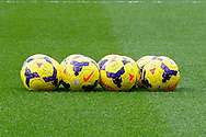Picture by David Horn/Focus Images Ltd +44 7545 970036<br /> 09/11/2013<br /> Collection of Nike high visibility winter balls before the Barclays Premier League match at Selhurst Park, London.