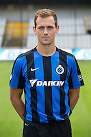 Club's Tom De Sutter poses for the photographer during the 2015-2016 season photo shoot of Belgian first league soccer team Club Brugge, Friday 17 July 2015 in Brugge