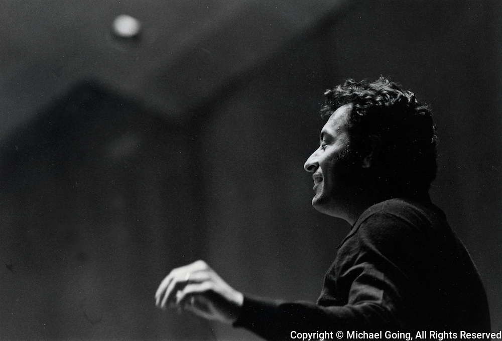 Zubin Mehta conductor and musical director LA Philharmonic conducting a rehearsal during the 1972-73 season