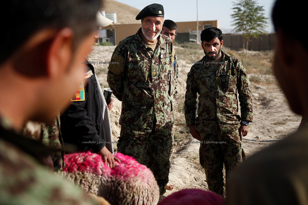 An Afghan National Army leader at german OP North, Northern Afghanistan