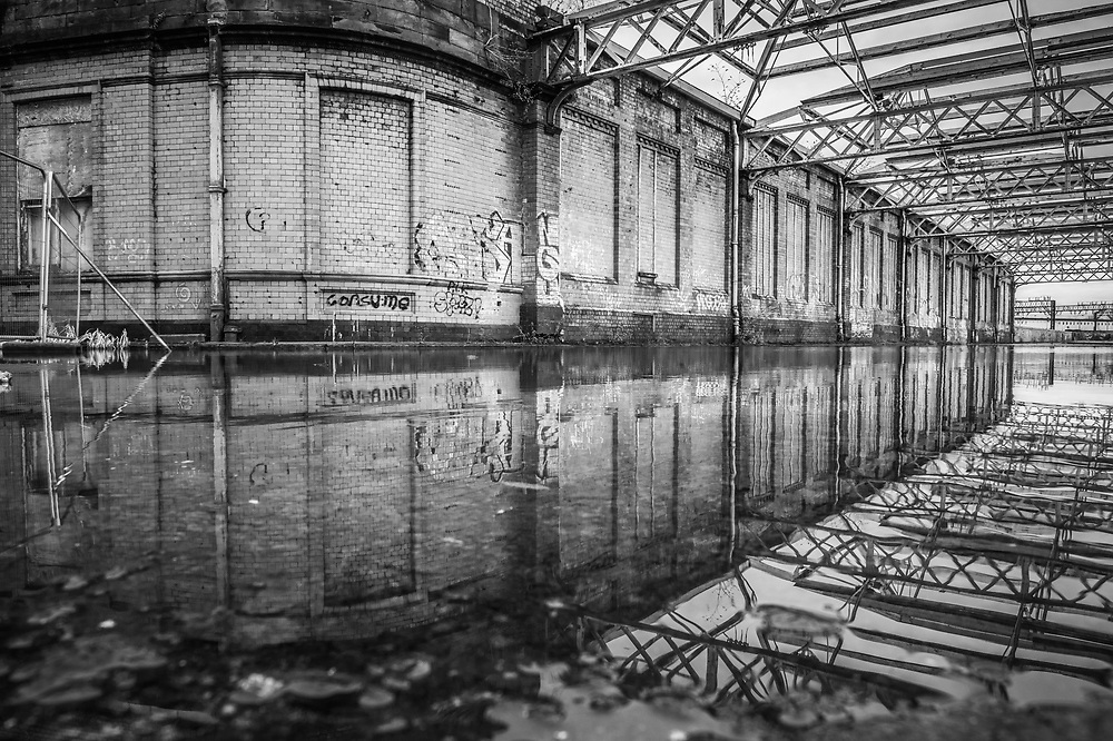 An image from the disused Mayfield Railway Station in central Manchester on Sunday 28th January 2018.