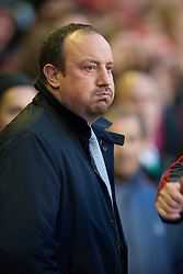 LIVERPOOL, ENGLAND - Monday, April 19, 2010: Liverpool's manager Rafael Benitez before the Premiership match against West Ham United at Anfield. (Photo by: David Rawcliffe/Propaganda)