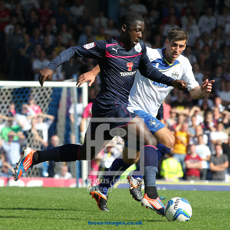Picture by Michael Sedgwick/Focus Images Ltd +44 7900 363072.08/09/2012.Jeffrey Monakana of Preston North End in action against Bury during the npower League 1 match at Gigg Lane, Bury.