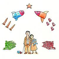 Ilustração para matéria de Lama Padma Santem.