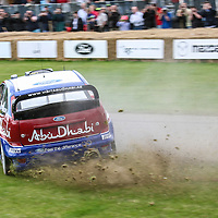 2008 Ford Focus WRC with driver Mikko Hirvonen at Goodwood Festival of Speed 2008
