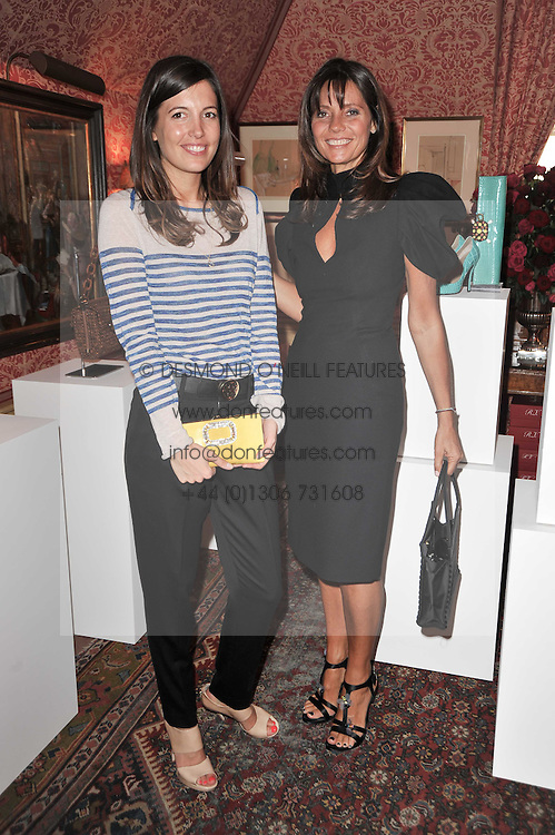 Left to right, AMANDA SHEPPARD and COUNTESS DEBONAIRE VON BISMARCK at a lunch hosted by Roger Viver in honour of Bruno Frisoni their creative director, held at Harry's Bar, 26 South Audley Street, London on 31st March 2011.