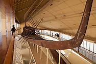 Egypt. Cairo - Gizeh pyramid, the solar boat  Cairo - Egypt    /  pyramide de Gizah, la barque solaire  Le Caire - Egypte