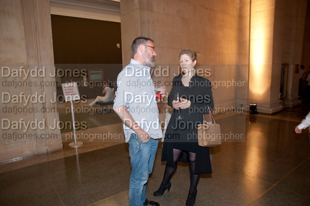 SIMON ENGLISH; CATHY DE MONCHEAUX; , Tate Summer Party. Celebrating the opening of the  Fiona Banner. Harrier and Jaguar. Tate Britain. Annual Duveens Commission 29 June 2010. -DO NOT ARCHIVE-© Copyright Photograph by Dafydd Jones. 248 Clapham Rd. London SW9 0PZ. Tel 0207 820 0771. www.dafjones.com.