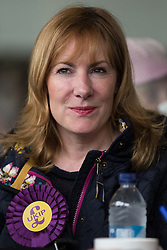 "© Licensed to London News Pictures . FILE PICTURE DATED 04/06/2014 of UKIP MEP for the South East , JANICE ATKINSON , in Newark . Today ( Thursday 19th March 2015 ) UKIP have suspended MEP Janice Atkinson and removed her as a candidate for the seat of Folkstone and Hythe in the upcoming UK election "" following allegations of a serious financial nature "". Photo credit : Joel Goodman/LNP"