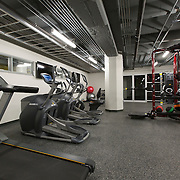 Fitness Center at Roaster's Block Apartments - Folger's Coffee Plant repurposing in downtown Kansas City, Missouri.