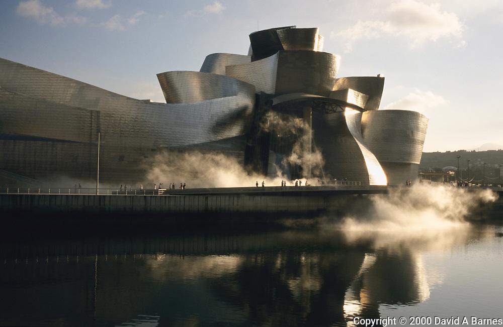 Guggenheim Museum, Bilbao, Basque Country, Spain.Ria de Bilbao