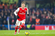 Arsenal midfielder Mesut Özil (10) during the Premier League match between Chelsea and Arsenal at Stamford Bridge, London, England on 21 January 2020.