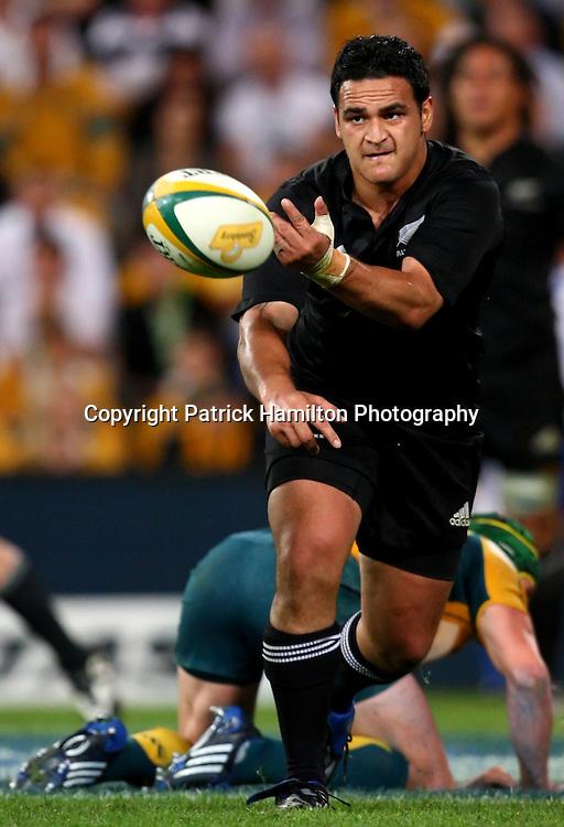 Piri Weepu.All Blacks v Australia Tri Nations Rugby Union Test Match. Suncorp Stadium ,Brisbane. Australia,Saturday 13 September 2008 . Photo: PHOTOSPORT