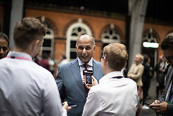 © Licensed to London News Pictures . 26/05/2019. Manchester, UK. SAJID KARIM . The count for seats in the constituency of North West England in the European Parliamentary election , at Manchester Central convention centre . Photo credit: Joel Goodman/LNP