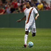 Urby Emanuelson, AS Roma, in action during the Liverpool Vs AS Roma friendly pre season football match at Fenway Park, Boston. USA. 23rd July 2014. Photo Tim Clayton