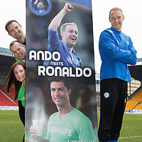 Launch of Steven Anderson's Testimonial....03.04.14<br /> Steven Anderson pictured at McDiarmid Park where his testimonial was launched to mark his ten years with St Johnstone. The testimonial is sponsored by Herbalife and they were represented by Scott and Nicola Walker of Ultimate Wellness, also pictured is Dave Ritchie Testimonial Committee Chairman<br /> Picture by Graeme Hart.<br /> Copyright Perthshire Picture Agency<br /> Tel: 01738 623350  Mobile: 07990 594431