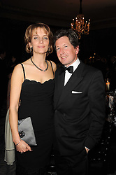 JOHN WARREN and his wife LADY CAROLYN WARREN at the 20th annual Cartier Racing Awards - the most prestigious award ceremony within European horseracing, held at The Dorchester Hotel, Park Lane, London on 16th November 2010.