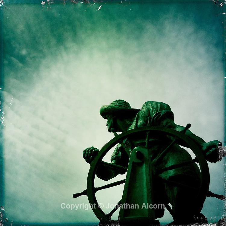 Argonaut statue at Burton Chace Park in Marina Del Rey