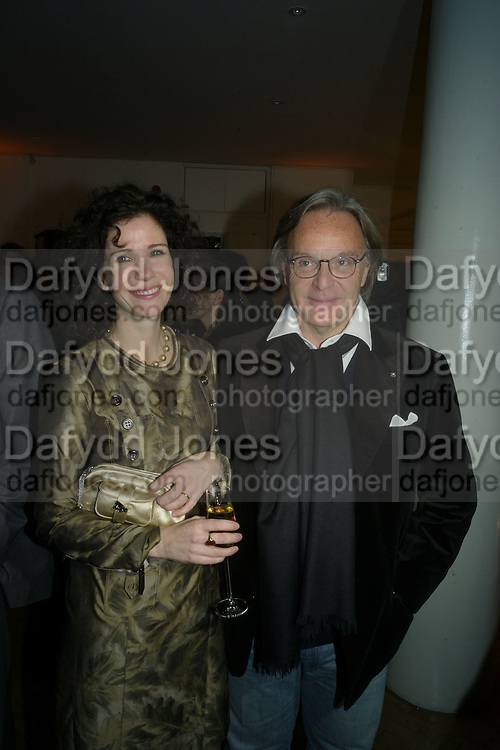 MOLLIE DENT-BROCKLEHURST AND DIEGO LA VALLE, TOD'S Art Plus Film Party 2008. Party to raise funds for the Whitechapel art Gallery.  One Marylebone Road, London NW1, 6 March, 8.30 - late<br /> *** Local Caption *** -DO NOT ARCHIVE-© Copyright Photograph by Dafydd Jones. 248 Clapham Rd. London SW9 0PZ. Tel 0207 820 0771. www.dafjones.com.