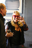 Anastacia pokes her tongue out in Cologne