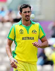 Australia's Mitchell Starc during the ICC Cricket World Cup Warm up match at the Hampshire Bowl, Southampton.