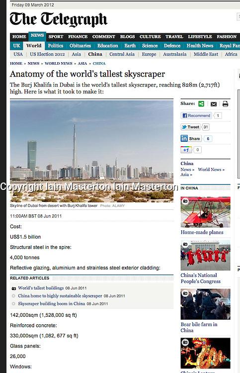 The Telegraph; skyline of Dubai