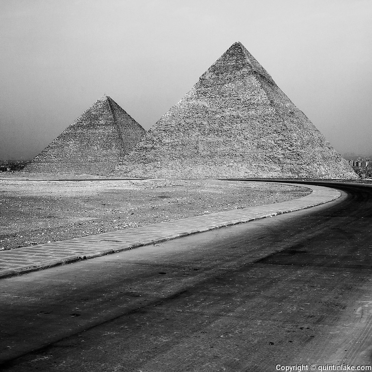 From the series Absent Pyramid made during the Egyptian Crisis when the lack of tourists enhanced the structure's sculptural isolation. Signed and editioned prints available at 42x42cm, 80x80cm & 110x110cm.