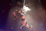 La Soiree<br /> at the La Soiree Spiegeltent, Southbank Centre, London, Great Britain <br /> press photocall<br /> 29th October 2015 <br /> <br /> <br /> <br /> Yammel Rodriguez <br /> aerial acrobatics <br /> <br /> Photograph by Elliott Franks <br /> Image licensed to Elliott Franks Photography Services