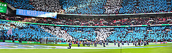 MANCHESTER CITY FANS IN FINE SONG AT WEMBLEY, Arsenal v Manchester City Carabao League Cup Final, Wembley Stadium, Sunday 25th February 2018, Score Arsenal 0- Man City 3.
