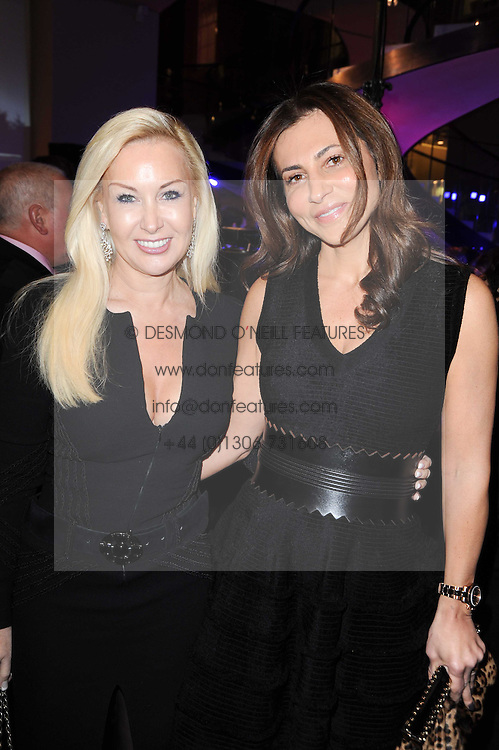 Left to right, LANA MOHAN and ELLA KRASNER at a party to celebrate the launch of Armin Storm's One Week Watch at Asprey, 167 New Bond Street, London W1 on 18th November 2010.