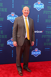 April 26, 2018 - Arlington, TX, U.S. - ARLINGTON, TX - APRIL 26:  University of Wyoming head football coach Craig Bohl on the Red Carpet prior to the 2018 NFL Draft at AT&T Statium on April 26, 2018 at AT&T Stadium in Arlington Texas.  (Photo by Rich Graessle/Icon Sportswire) (Credit Image: © Rich Graessle/Icon SMI via ZUMA Press)
