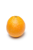 Fresh orange against white background