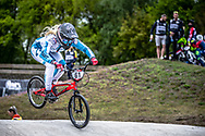 #61 (VEENSTRA Manon) NED during practice at Round 3 of the 2019 UCI BMX Supercross World Cup in Papendal, The Netherlands