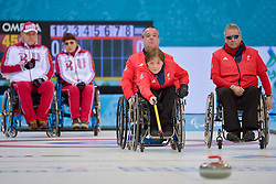 Aileen Neilson, Bob McPherson, Jim Gault, Wheelchair Curling Semi Finals at the 2014 Sochi Winter Paralympic Games, Russia