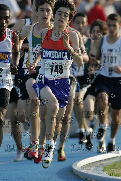 Michael Pesce competing in the 1500m qualifying rounds at the 2007 OFSAA Ontario High School Track and Field Championships in Ottawa.